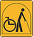 PART-TIME WHEELCHAIR USERS<br>If you have problems walking or can walk a maximum of 3 steps, or need to use a wheelchair some of the time, this logo applies to you.
