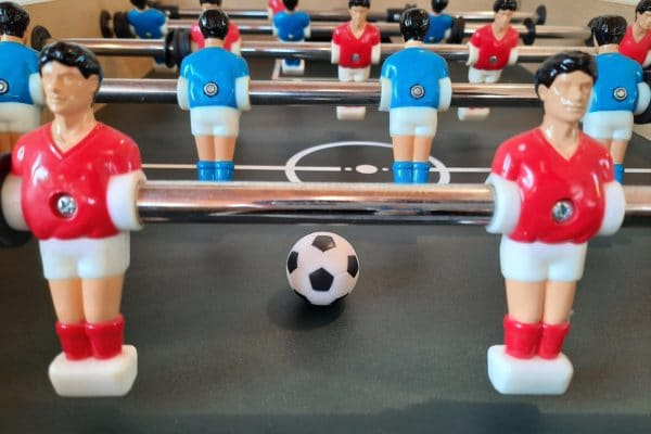 Close up of table football