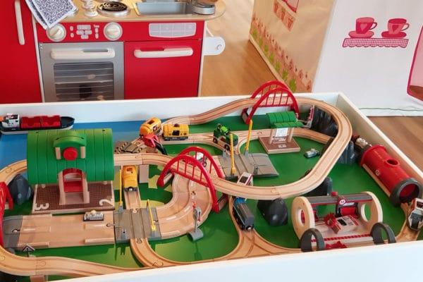 brio trainset interactive children's kitchen soft teashop wendy house